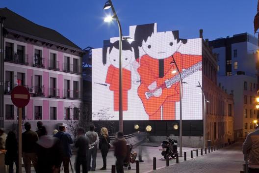 Screening at Medialab-Prado Facade